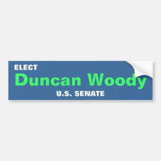 DUNCAN WOODY bumper sticker