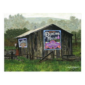 Duncans Mills Barn   Mini Collectible Prints Postcard