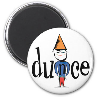 Dunce 2 Inch Round Magnet