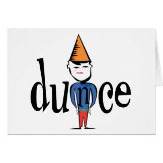 Dunce Card