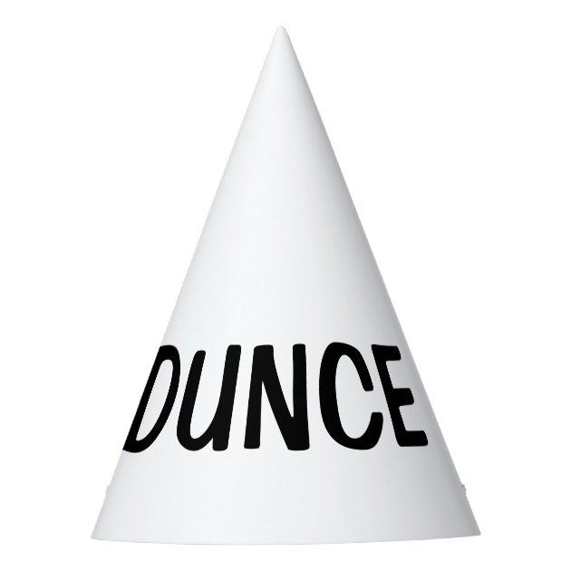 Dunce Hat Diy Custom Party Hats Zazzle Com
