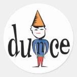 Dunce Round Sticker