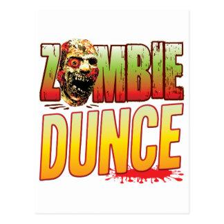 Dunce Zombie Head Postcard