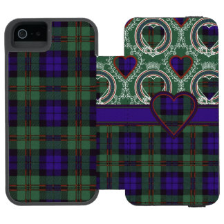 Dundas clan Plaid Scottish tartan iPhone SE/5/5s Wallet Case