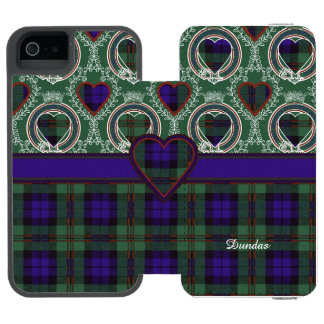 Dundas clan Plaid Scottish tartan Wallet Case For iPhone SE/5/5s
