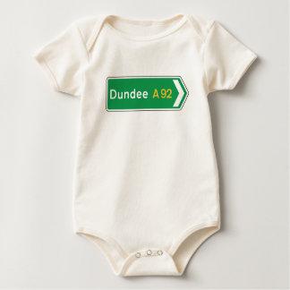 Dundee, señal de tráfico BRITÁNICA Body Para Bebé