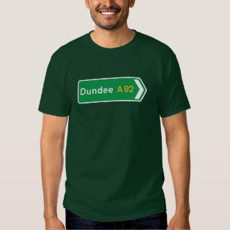 Dundee, señal de tráfico BRITÁNICA Playera