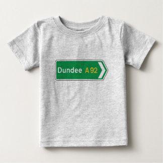 Dundee, señal de tráfico BRITÁNICA Playera De Bebé