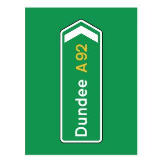 Dundee, señal de tráfico BRITÁNICA Postales