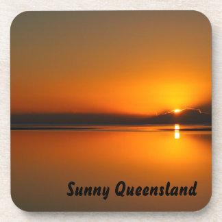 Dundowran Beach sunrise drink coaster set