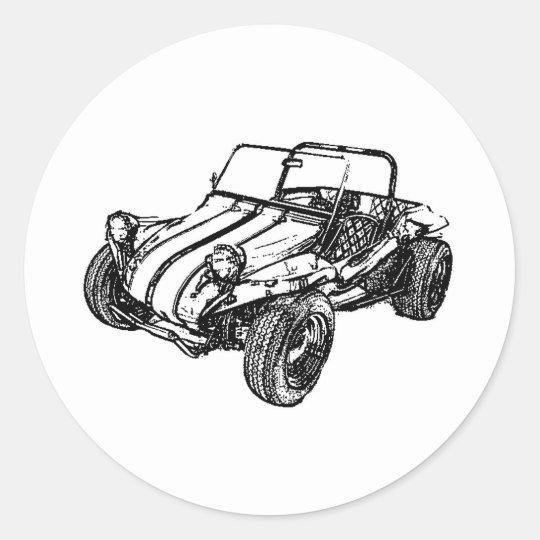 Dune Buggy Classic Round Sticker