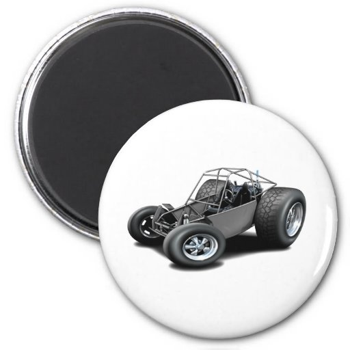 Dune Buggy grey 2 Inch Round Magnet