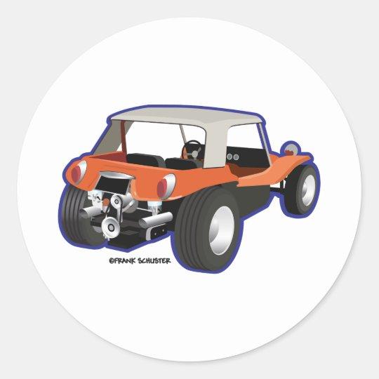 Dune Buggy Manx Classic Round Sticker
