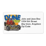 Dune Buggy Play in the Sand Personalized Shipping Label