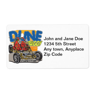 Dune Buggy Play in the Sand Shipping Label