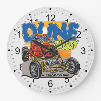Dune Buggy Play in the Sand Large Clock