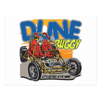 Dune Buggy Play in the Sand Postcard