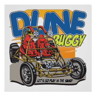 Dune Buggy Play in the Sand Poster