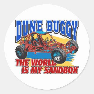 Dune Buggy Sandbox Classic Round Sticker