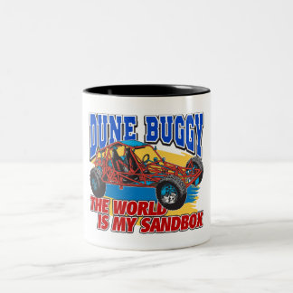 Dune Buggy Sandbox Two-Tone Coffee Mug