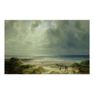 Dune by Hegoland, Tranquil Sea Poster