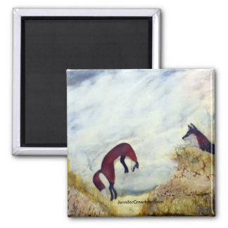 """Dune Foxes"" Art Magnet"