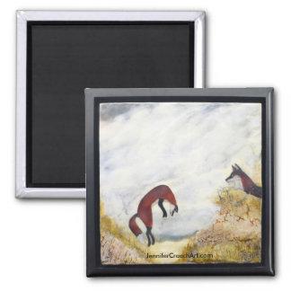 """""""Dune Foxes"""" framed Art Magnet"""