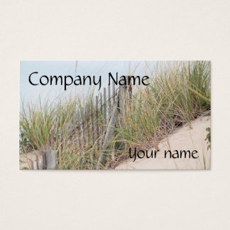 Dune grass and beach fence business card