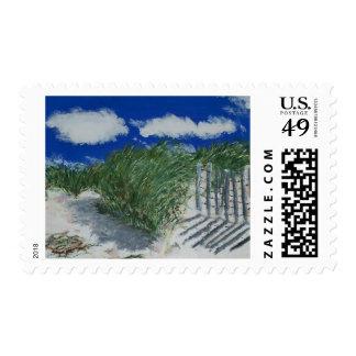 Dune grass postage stamp