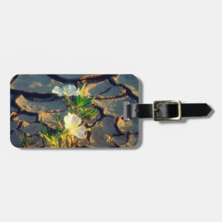 Dune Primrose growing out of Cracked Mud Luggage Tag
