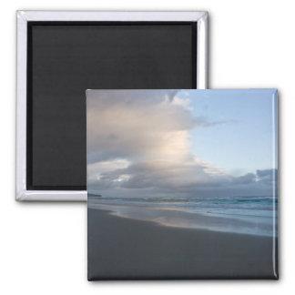 Dunedin Beach at Dusk DSC6544 2 Inch Square Magnet