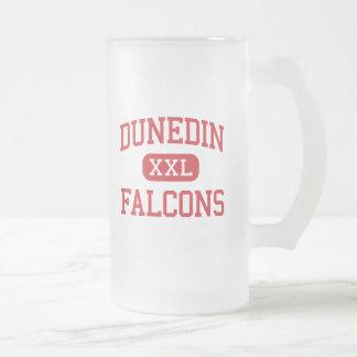Dunedin - Falcons - High School - Dunedin Florida 16 Oz Frosted Glass Beer Mug