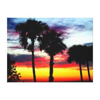 Dunedin, Florida Sunset 1 Stretched Canvas Print