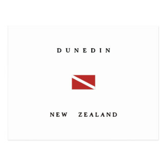 Dunedin New Zealand Scuba Dive Flag Postcard