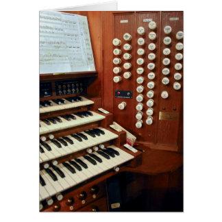 Dunedin  pipe organ console card