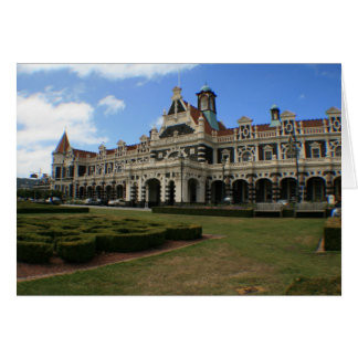 Dunedin Railway Station, New Zealand Card