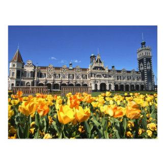 Dunedin Railway Station Postcard