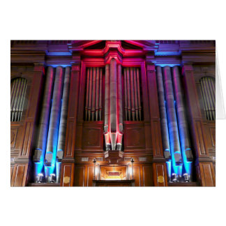 Dunedin Town Hall pipe organ Card