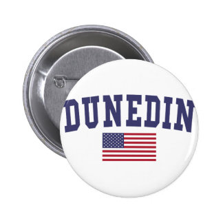 Dunedin US Flag Pinback Button