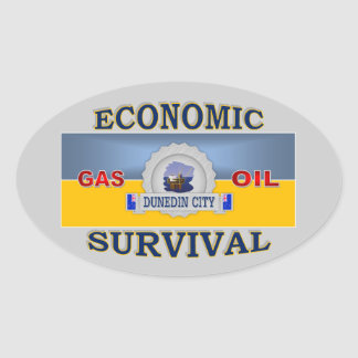 DUNEDIN'S (NZ) ECONOMIC SURVIVAL OVAL STICKER