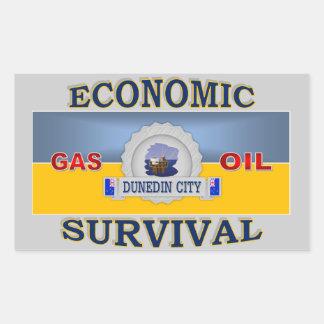 DUNEDIN'S (NZ) ECONOMIC SURVIVAL RECTANGULAR STICKER