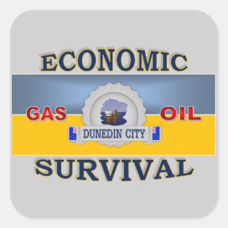 DUNEDIN'S (NZ) ECONOMIC SURVIVAL SQUARE STICKER