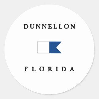 Dunellon Florida Alpha Dive Flag Round Stickers