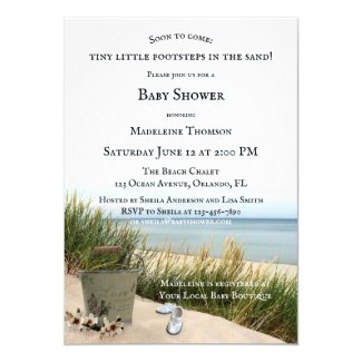 Dunes and Beach Nautical Baby Shower Invitation