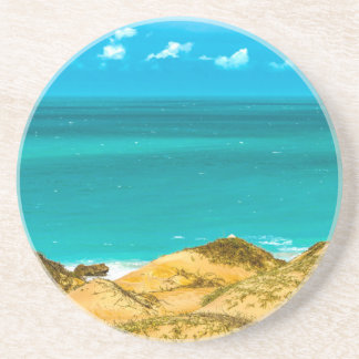 Dunes and Ocean Jericoacoara Brazil Sandstone Coaster