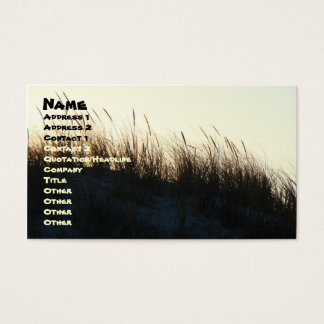 Dunes at Sundown IBSP NJ Coordinating Items Business Card