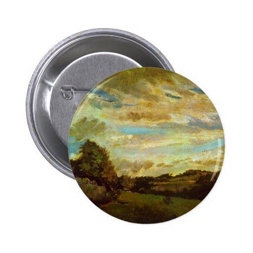 Dunes by Vincent van Gogh Pinback Buttons