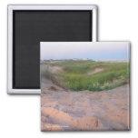 Dunes in Montauk 2 Inch Square Magnet