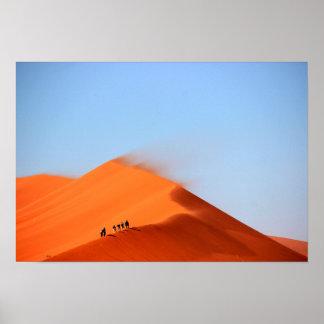 Dunes in the Desert Poster