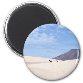 Dunes of Corralejo, Fuerteventura, Canary islands 2 Inch Round Magnet